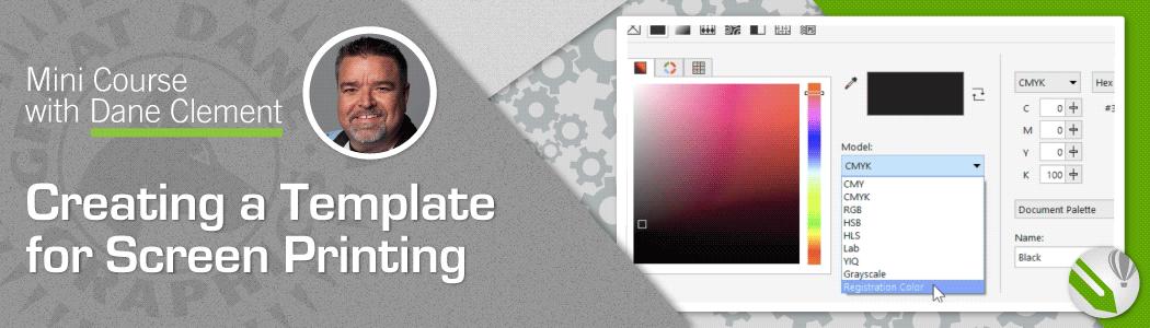 Viideo Mini Course Creating Screen Printing Template Coreldraw