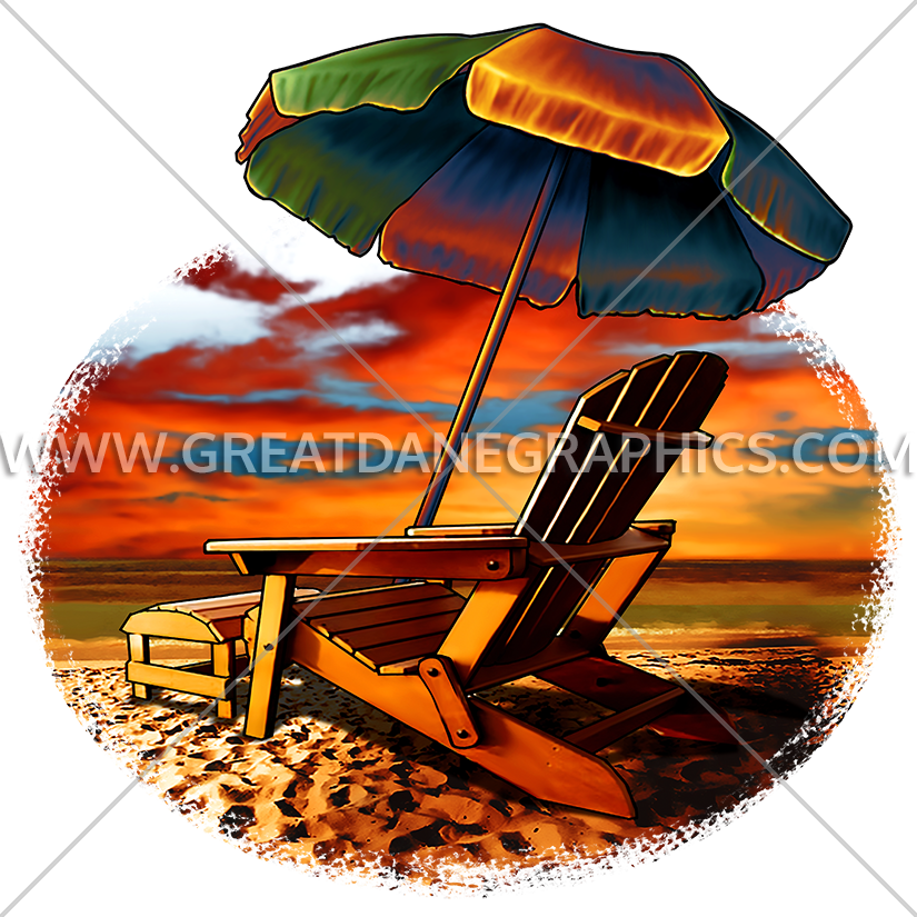 D-4163 Beach Sunset Screen Printing - Color