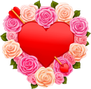 Valentine Heart And Roses