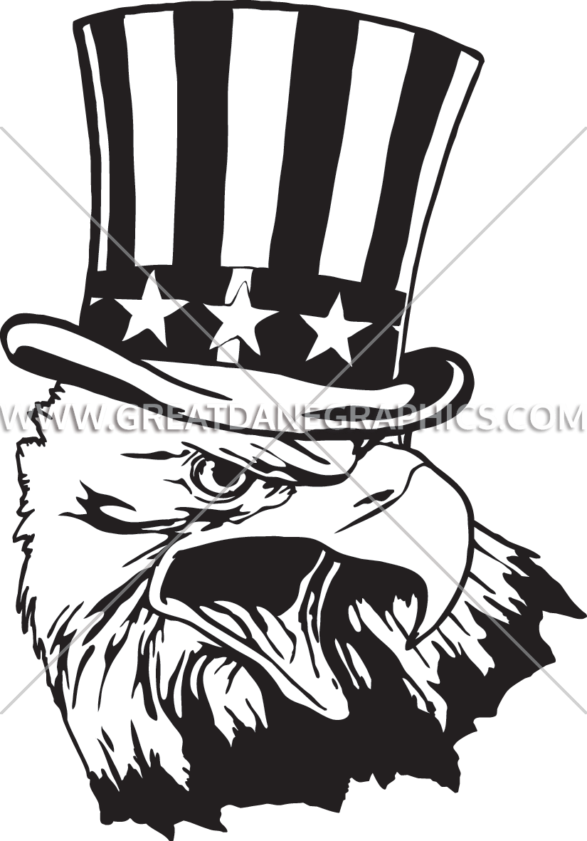 uncle sam eagle production ready artwork for t shirt printing rh greatdanegraphics com 4WD Black and White Clip Art Memorial Day Clip Art Black and White