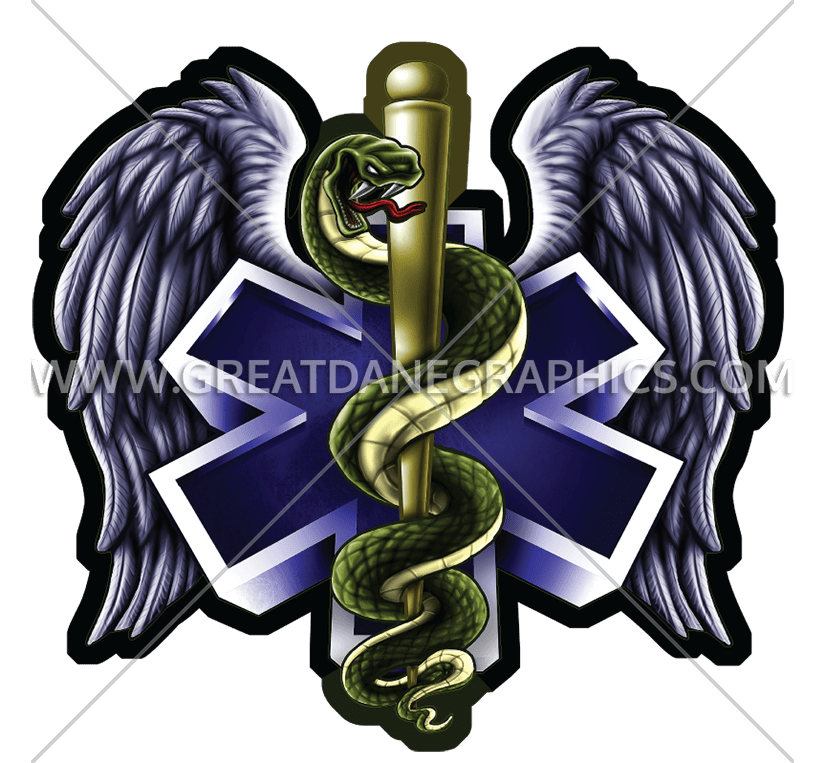 Ems Snake With Wings Production Ready Artwork For T Shirt Printing
