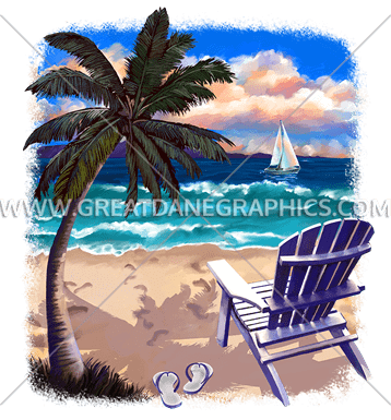 Beach Chair U0026 Flip Flops
