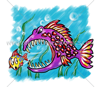 Big fish little fish production ready artwork for t shirt printing big fish little fish thecheapjerseys Choice Image