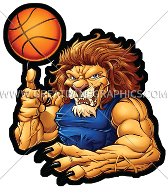 Basketball Lion | Production Ready Artwork for T-Shirt ...
