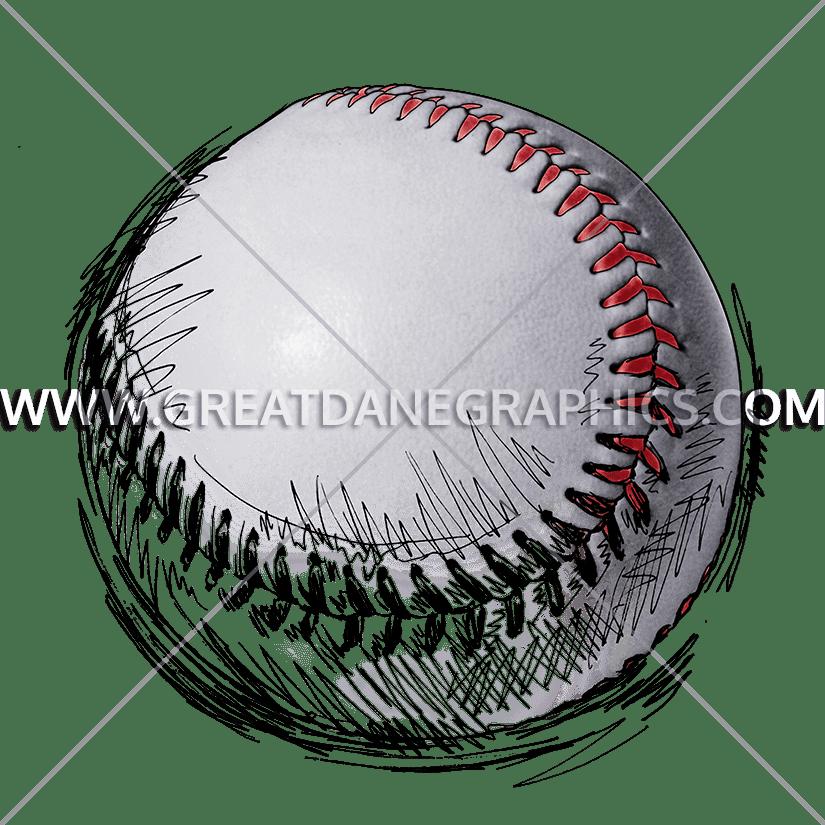 Baseball Sketch Production Ready Artwork For T Shirt Printing