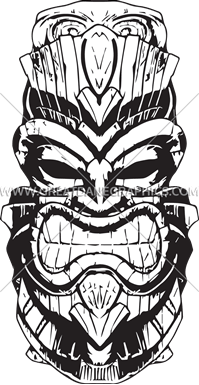 Tiki Time Production Ready Artwork For T Shirt Printing