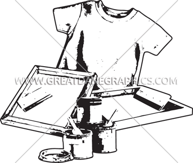 screen print equipment production ready artwork for t shirt printing rh greatdanegraphics com Screen Printing Vector screen printing press clipart
