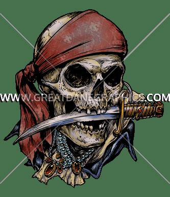 Pirate Skull Amp Knife Production Ready Artwork For T