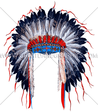 indian head dress production ready artwork for t shirt Mean Chief Graphics Kansas City Chiefs Logo Graphics