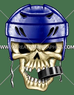 Hockey Skull Production Ready Artwork For T Shirt Printing