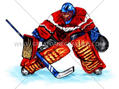 Hockey Goalie Block Production Ready Artwork For T Shirt Printing