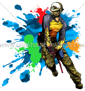 Paintball party clipart