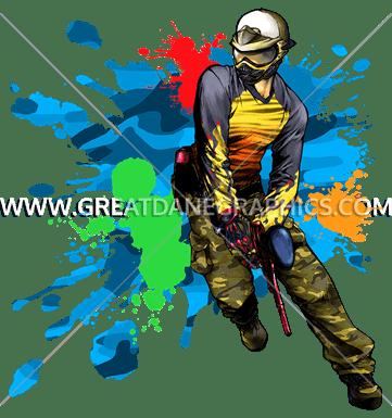 Paintball splatter