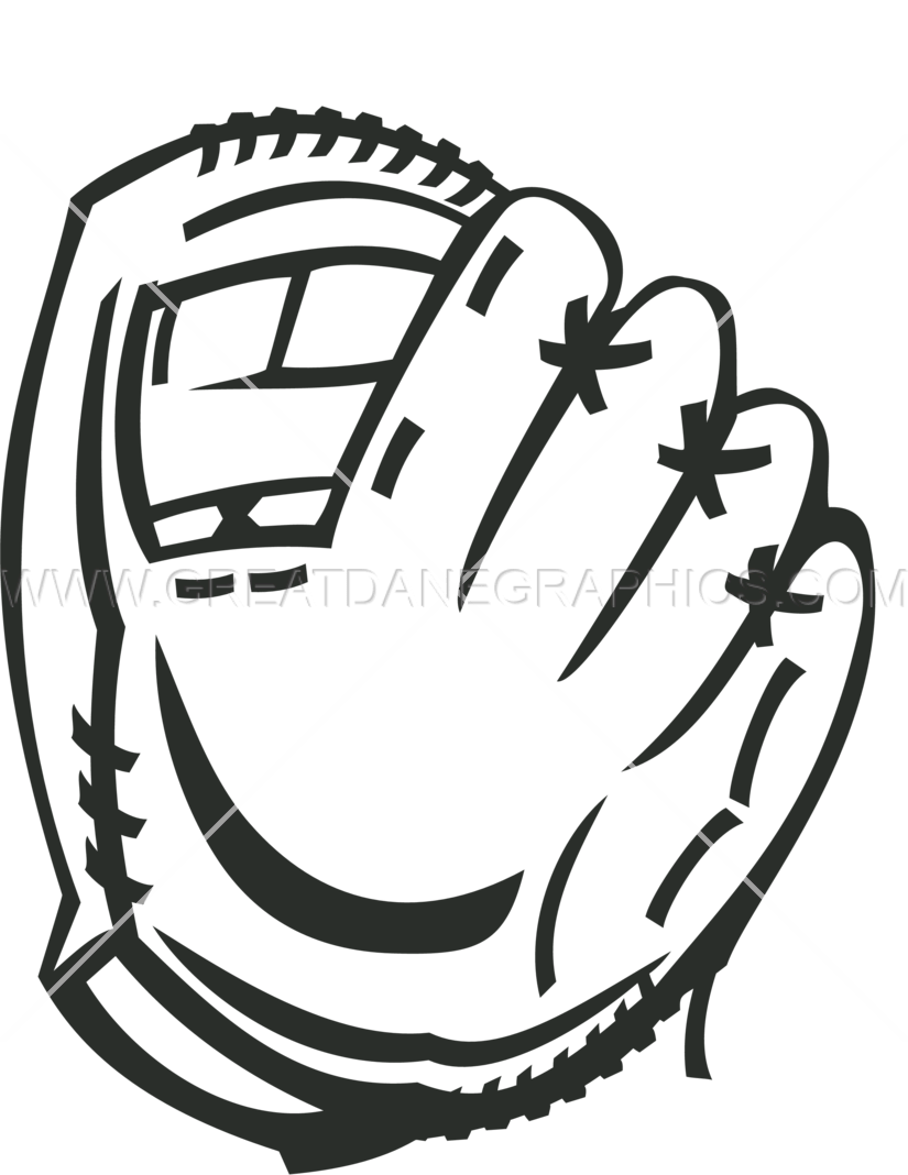Baseball Glove Production Ready Artwork For T Shirt Printing