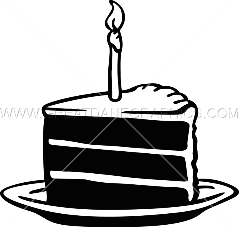 Birthday Cake Slice Production Ready Artwork for TShirt Printing