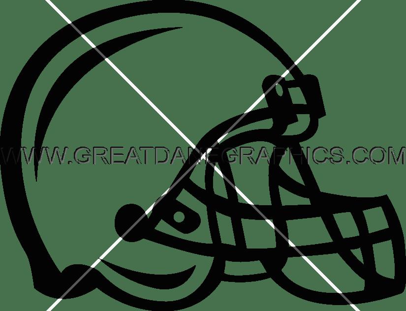 Football Helmet Production Ready Artwork For T Shirt