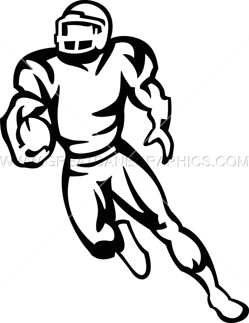 Football Player Running Production Ready Artwork For T