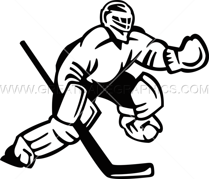hockey goalie production ready artwork for t shirt printing rh greatdanegraphics com field hockey goalie clipart hockey goalie stick clipart