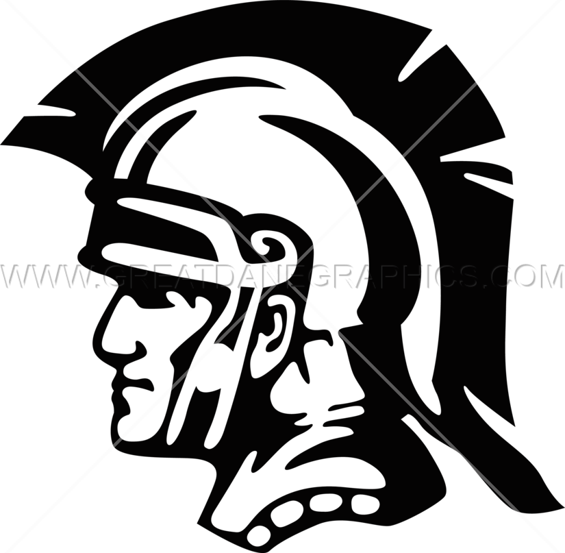 Gladiator Head Production Ready Artwork For T Shirt Printing