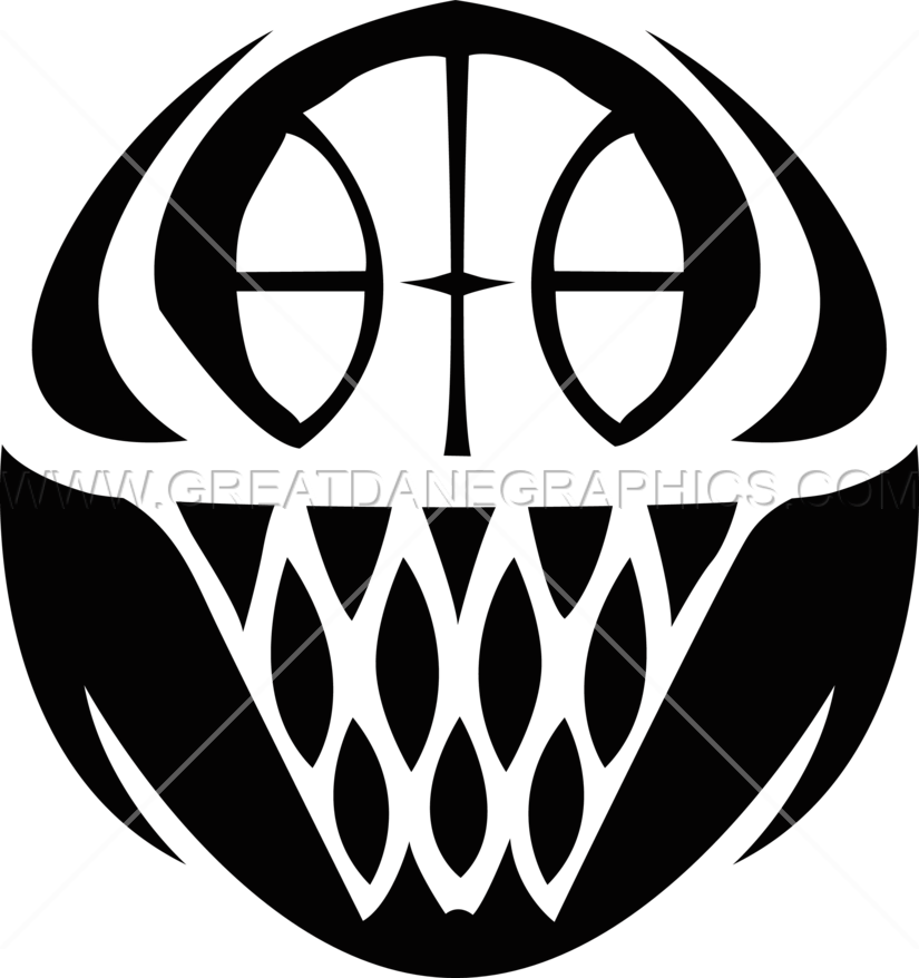 Basketball In Rim Production Ready Artwork For T Shirt