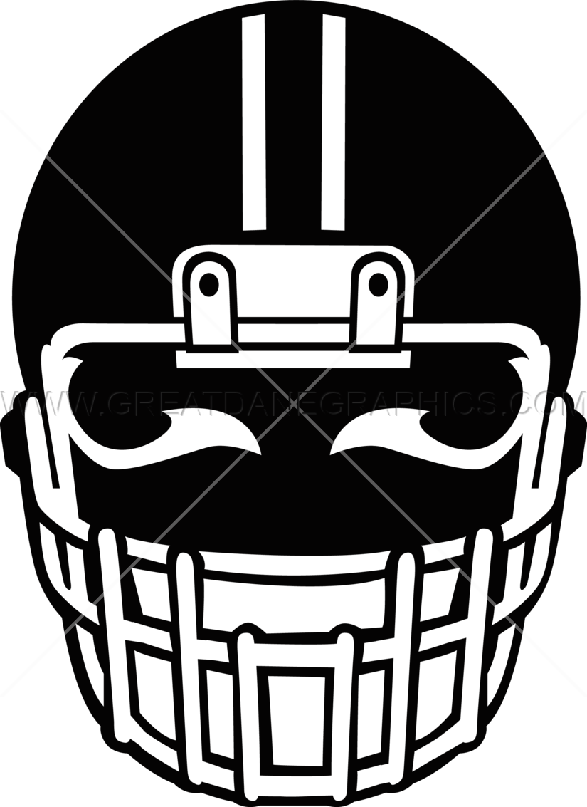 Football Helmet With Eyes Production Ready Artwork For T