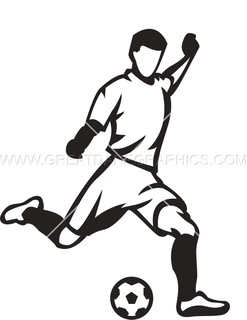 soccer player kicking ball production ready artwork for t shirt