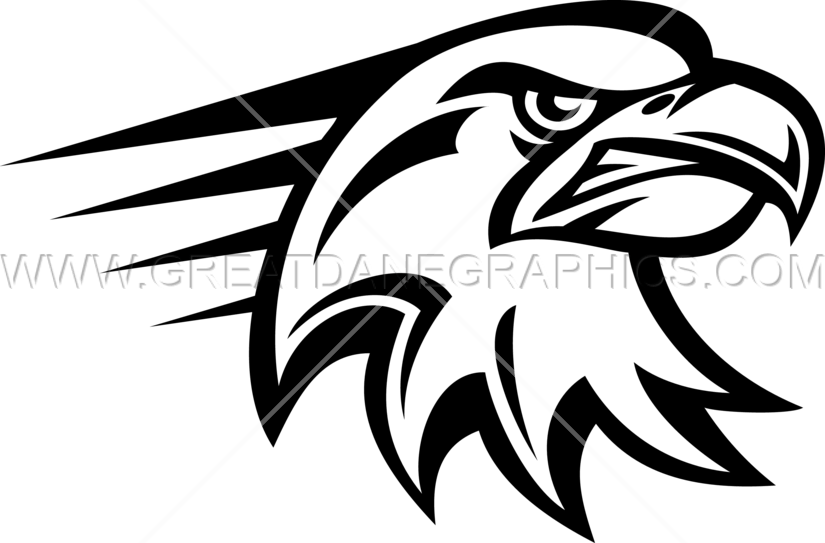 Angry Eagle Head Production Ready Artwork For T Shirt