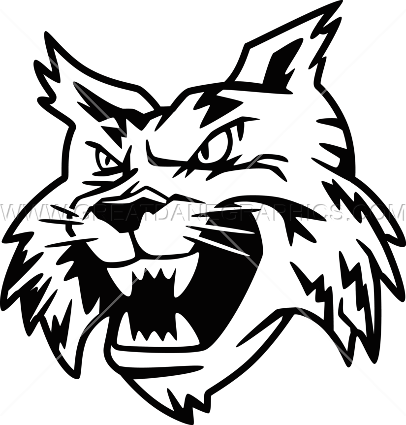 Bobcat Head Production Ready Artwork For T Shirt Printing