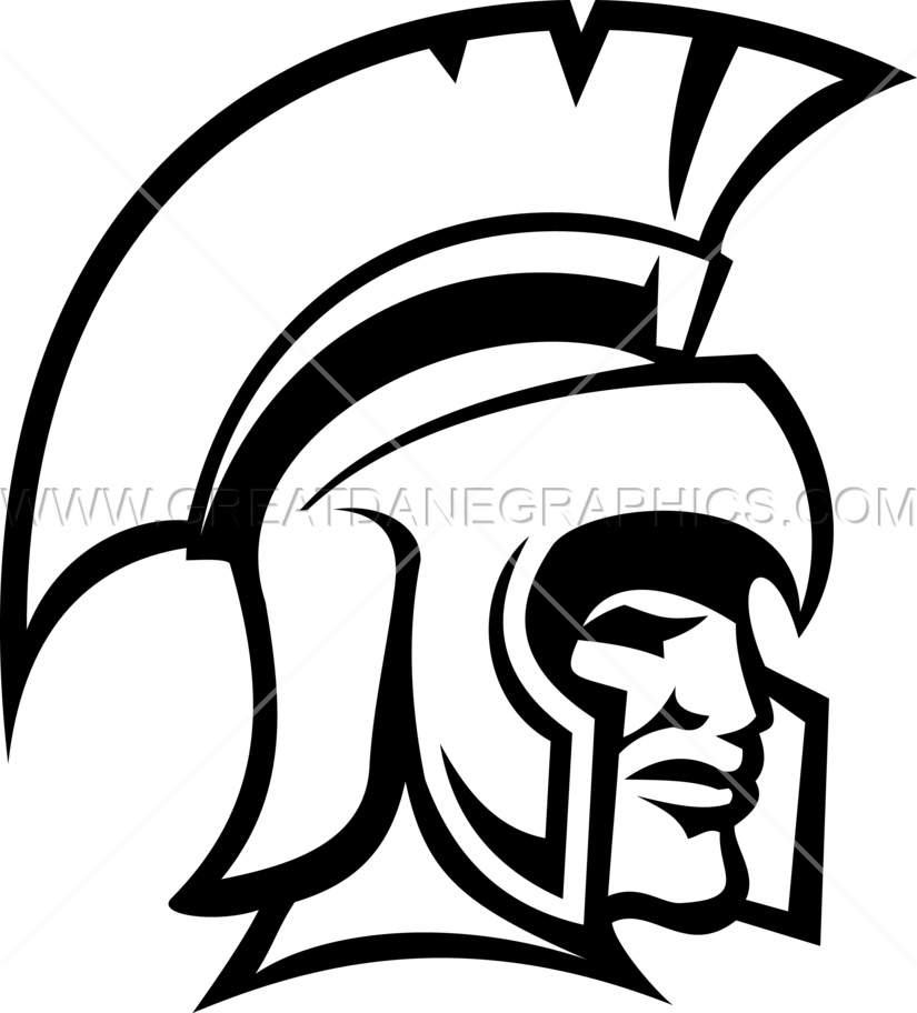 Spartan Head   Production Ready Artwork for T-Shirt Printing