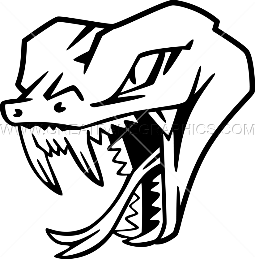 Snake Head Production Ready Artwork For T Shirt Printing
