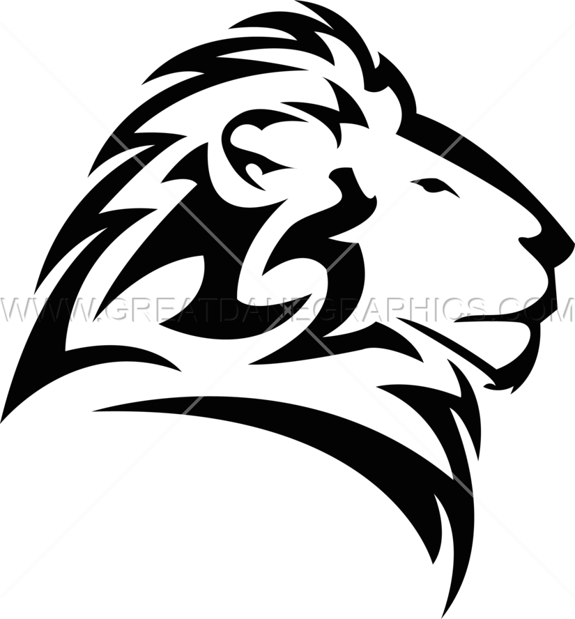 Male Lion Head Production Ready Artwork For T Shirt Printing
