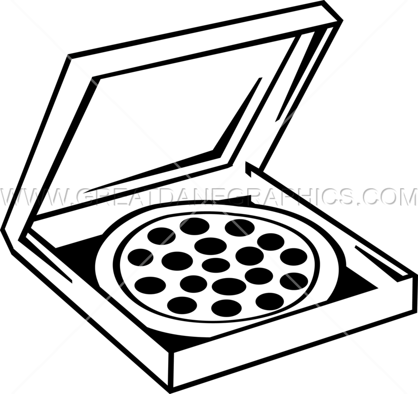 Pizza Box Production Ready Artwork For T Shirt Printing