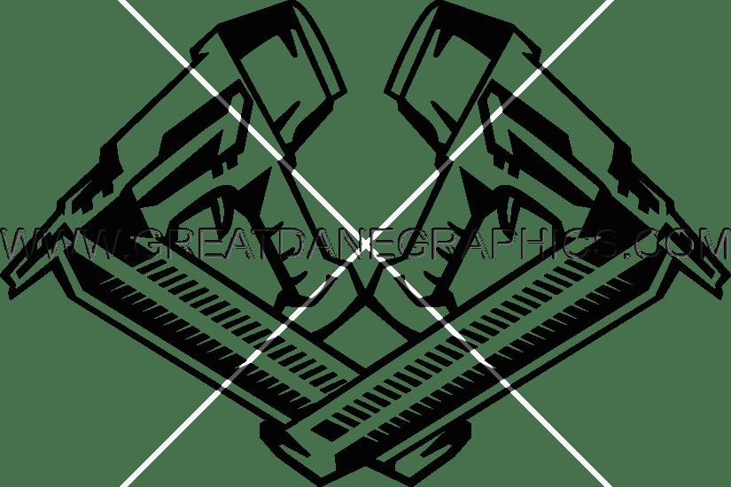 Nail Gun | Production Ready Artwork for T-Shirt Printing