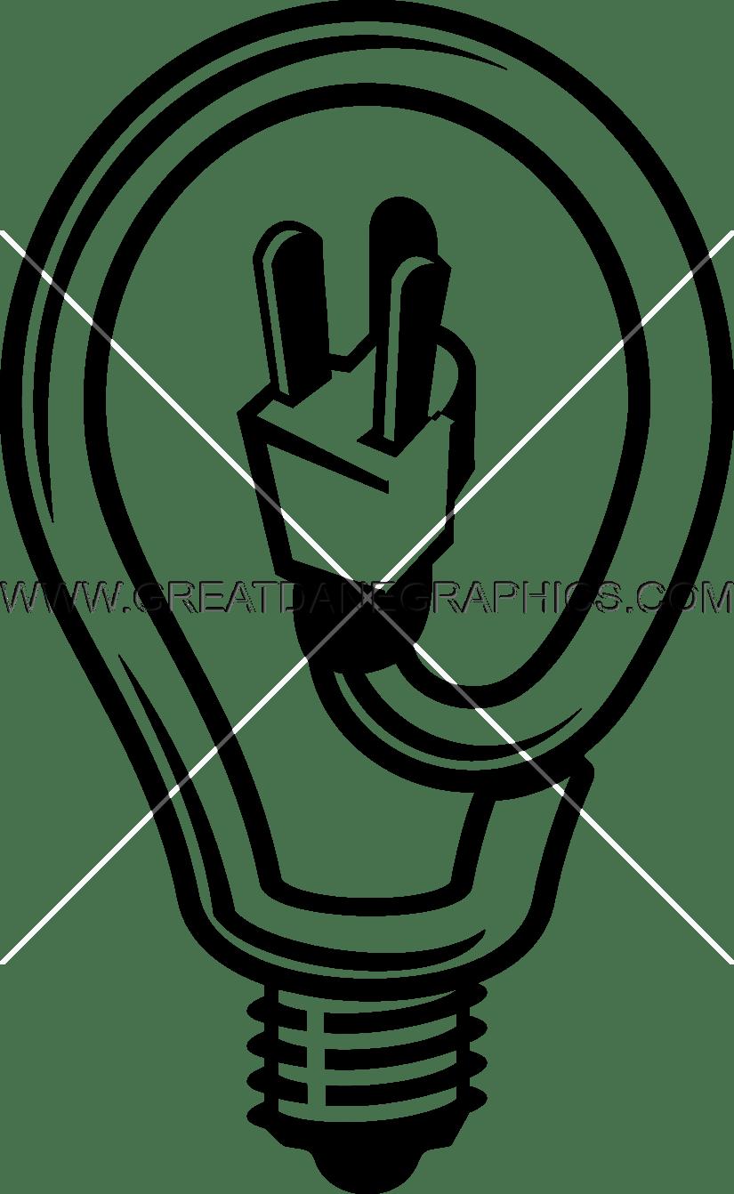Electrician Light Bulb | Production Ready Artwork for T-Shirt Printing for Black Light Bulb Clip Art  34eri