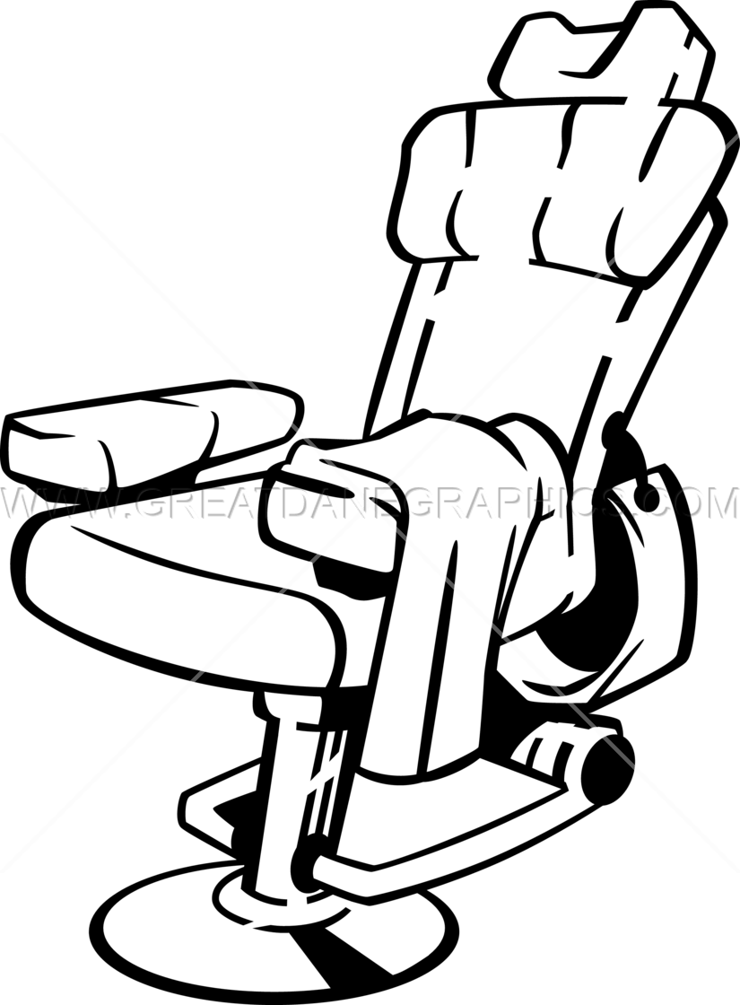 Barber chair vector - Barbers Chair