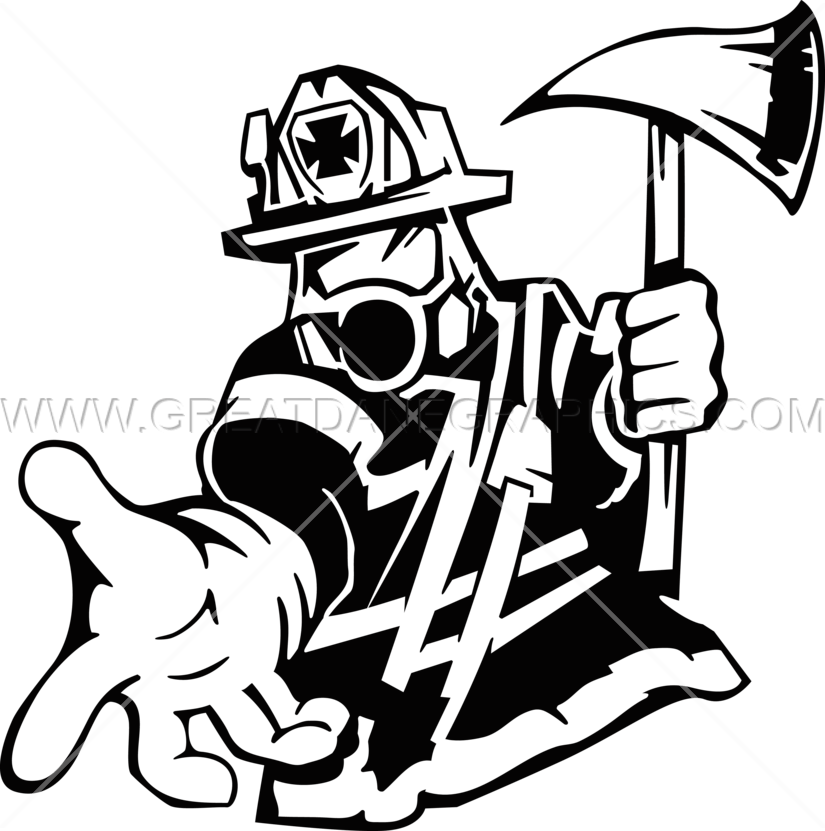 Firefighter Rescue Production Ready Artwork For T Shirt Printing
