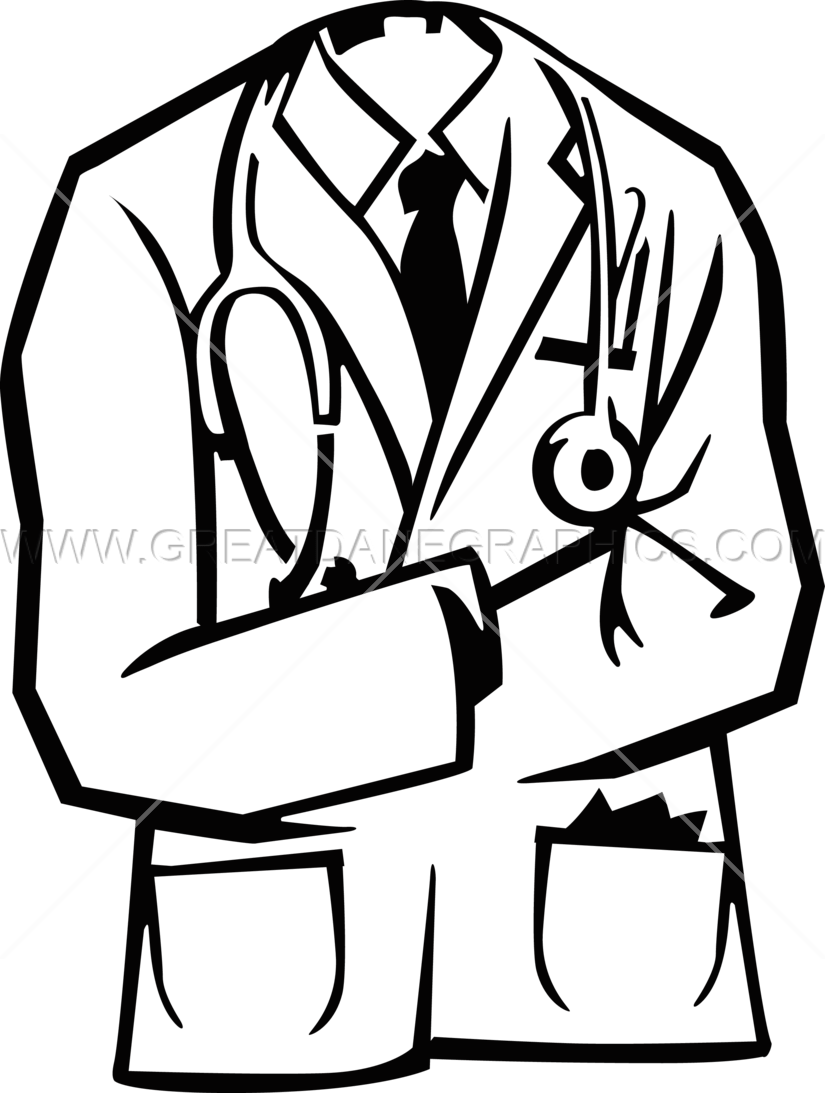 Doctors Coat Production Ready Artwork For T Shirt Printing