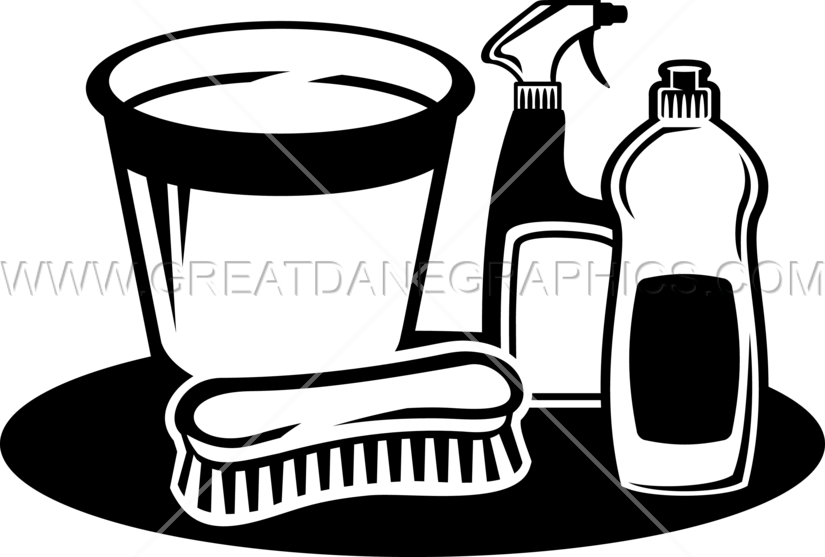 cleaning supplies production ready artwork for t shirt printing rh greatdanegraphics com cleaning supplies clipart free Drawing Cleaning Supplies