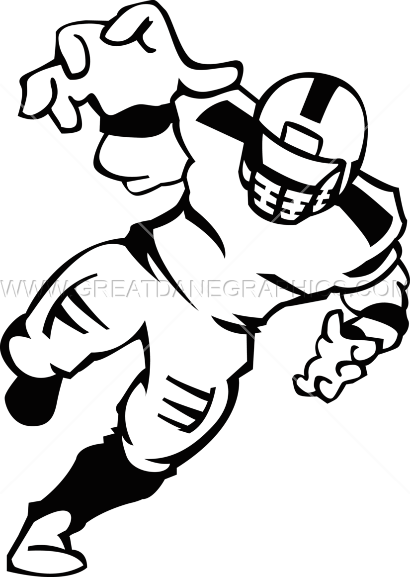 Football Player Production Ready Artwork For T Shirt