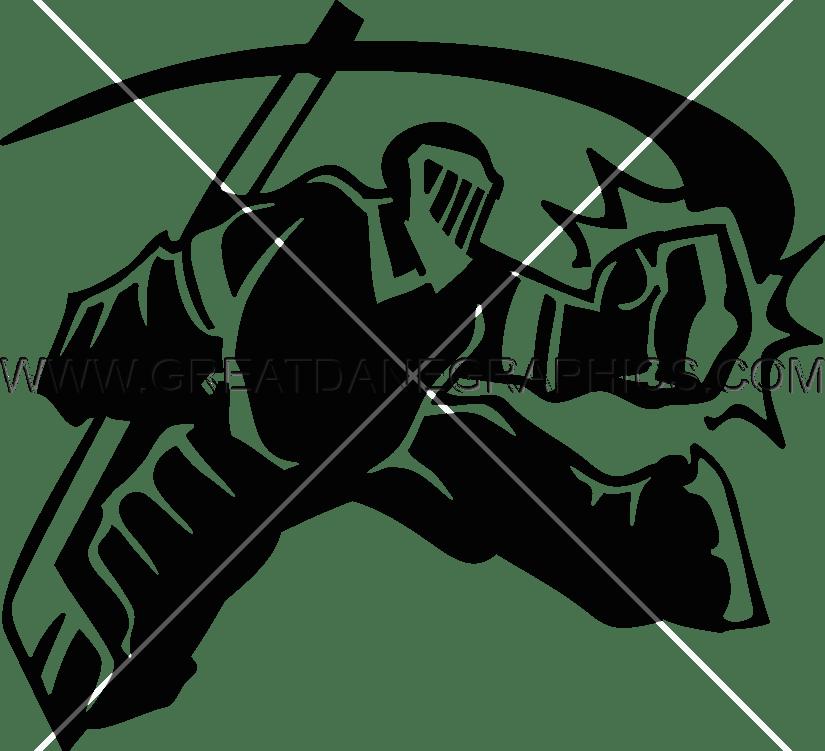 Hockey Goalie Save Production Ready Artwork For T Shirt
