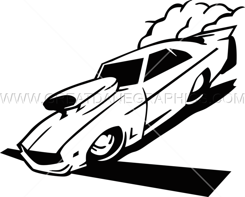 Drag Car Racing Production Ready Artwork For T Shirt