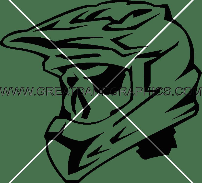 abd7ceea Skeleton Motocross Helmet | Production Ready Artwork for T-Shirt Printing