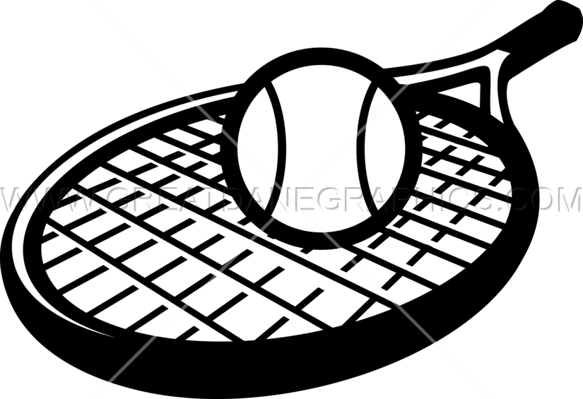 Tennis Racket Ball Production Ready Artwork For T Shirt Printing