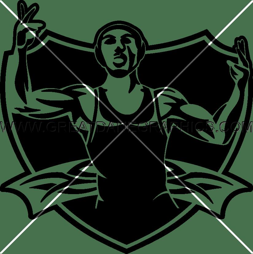 Wrestling Crest Production Ready Artwork For T Shirt