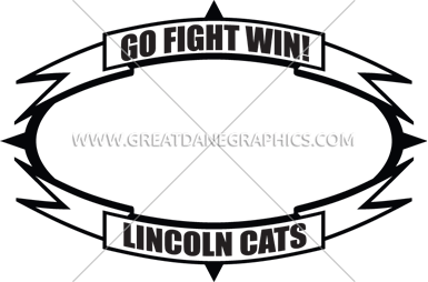 oval with double banners template production ready artwork for t