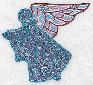 Angel 2 Two Applique Fabrics Production Ready Artwork For T Shirt