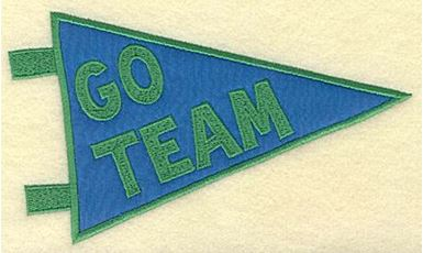 Go team banner applique large   Production Ready Artwork ...
