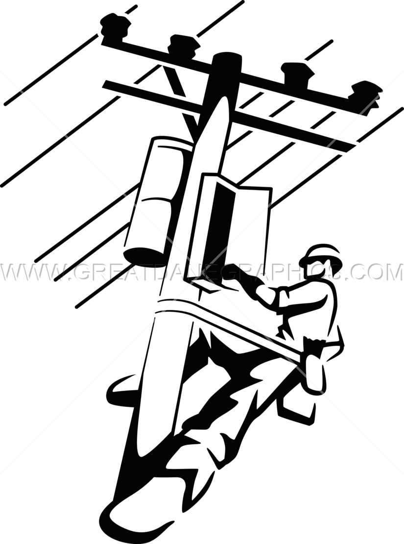 Electrical Lineman Production Ready Artwork For T Shirt
