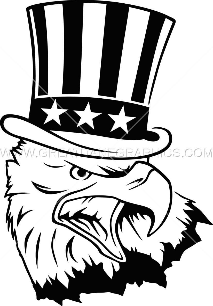 uncle sam eagle production ready artwork for t shirt printing rh greatdanegraphics com Memorial Day Clip Art Black and White 4WD Black and White Clip Art