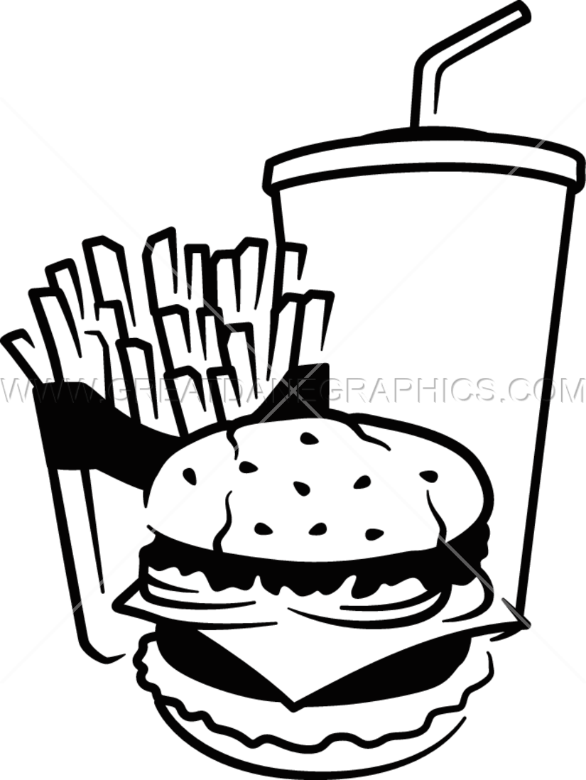 Fast Food | Production Ready Artwork for T-Shirt Printing